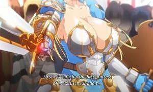 胸が異様に目立つ鎧アーマーを着た生意気娘!!プライド高そうな雌を徹底的に辱める究極のサイミン効果!!さぁ肉穴に挿入するぞ